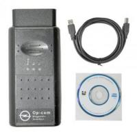 Buy cheap OP-COM 2012 Firmware V1.59 with chips PIC18F458 FT232RL MC3399 MCP2551 from wholesalers