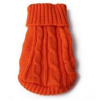 China Dog Clothes Orange Mini Knitted Dog Jumper on sale