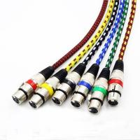3Pin XLR Male To Female Nylon Braided Microphone Cables