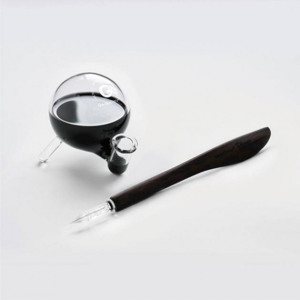 Quality Plume Dip Pen x Inkwell for sale