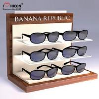 Customized Floor White Wooden Game Headphone Display Stand With Screen