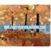 China Different Shaped Decorating Wedding Paper Lanterns With Soft Colors , Size Customized wholesale