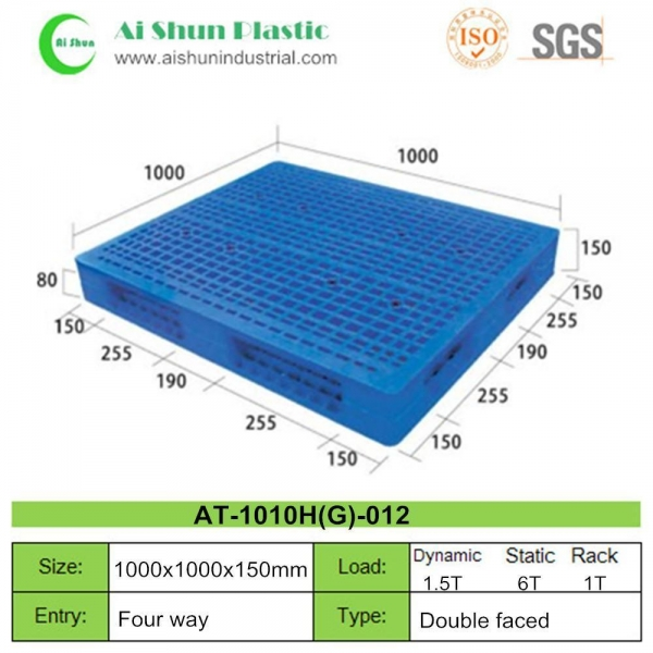 China No.12 Double Reversible plastic pallet