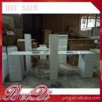 Buy cheap white nail table manicure double nail station professional manicure table for sale from wholesalers