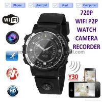Buy cheap Y30 8GB 720P WIFI P2P IP Watch Camera Recorder IR Night Vision Motion Detection from wholesalers