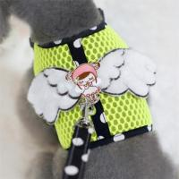China Polka Dot Leash Angel Wings Gil Dog Summer Mesh Harness Vest for Small Dog wholesale