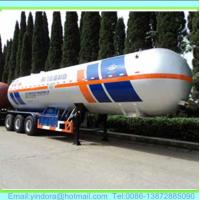 China 3 axle lpg propane tank semi trailer 58000 litres wholesale